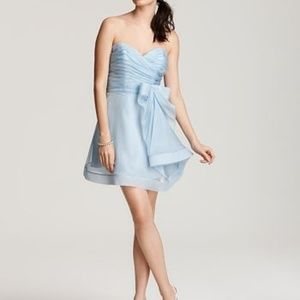 ABS Strapless flouncy bow dress